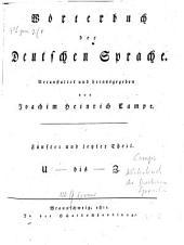 Wörterbuch der deutschen Sprache: U bis Z. 5