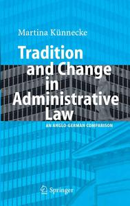 Tradition and Change in Administrative Law Book