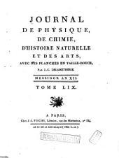 Journal de physique, de chimie, d'histoire naturelle et des arts: Volume59