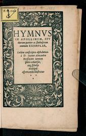 Hymnvs In Apollinem: Stvdiorum pariter ac studiosorum omnium Exemplar