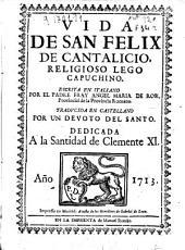 Vida de San Felix de Cantalicio, religioso lego capuchino