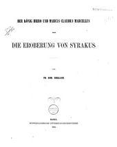 Der könig Hiero und Marcus Claudius Marcellus: oder, Die eroberung von Syrakus