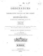 The Ordinances of the Legislative Council of the Colony of Hongkong Commencing with the Year 1844 ...: 1885-1887