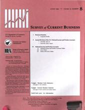Survey of Current Business: Volume 73, Issue 8