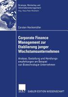 Corporate Finance Management zur Etablierung junger Wachstumsunternehmen PDF