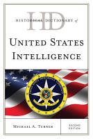 Historical Dictionary of United States Intelligence PDF