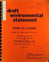 I-95 Construction from Russell St to O'Donnell St, Baltimore: Environmental Impact Statement