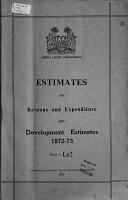 Estimates of Revenue and Expenditure and Development Estimates PDF