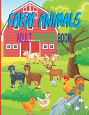 Farm Animals Adult Coloring Book