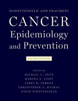 Cancer Epidemiology and Prevention PDF