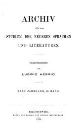 Archiv für das Studium der neueren Sprachen und Literaturen: Bände 59-60