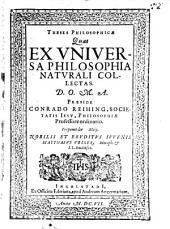 Theses philosophicae quas ex universa philosophia naturalis collectas