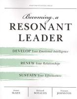 Becoming a Resonant Leader PDF