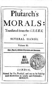 Plutarch's Morals: Volume 3