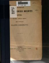 Intorno a Vincenzo Monti: lettera al cav. Achille Monti