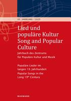 Lied und popul  re Kultur   Song and Popular Culture 65 2020 PDF