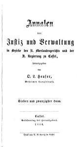 Annalen der Justizpflege und Verwaltung in Kurhessen: Band 27