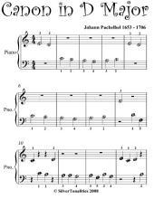Canon in D Beginner Piano Sheet Music