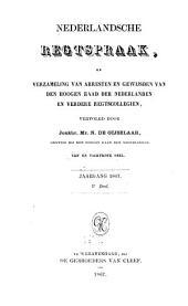 Nederlandsche rechtspraak, of Verzameling van arresten en gewijsden van den Hoogen raad der Nederlanden: Deel 85