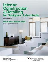 Interior Construction & Detailing for Designers & Architects: Issue 9425