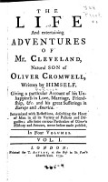 The Life and Entertaining Adventures of Mr  Cleveland  Natural Son of Oliver Cromwell  Written by Himself PDF