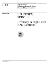 U.S. Postal Service diversity in highlevel EAS positions : report to the Honorable Danny K. Davis, House of Representatives