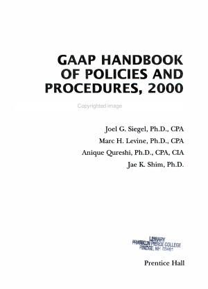 GAAP Handbook of Policies and Procedures  2000 PDF