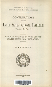 Mexican grasses in the United States national herbarium