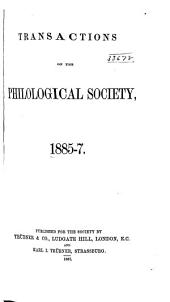Transactions of the Philological Society: Volume 27