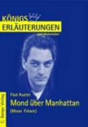 Erl  uterungen zu Paul Auster  Mond   ber Manhattan  Moon palace  PDF
