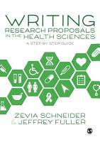 Writing Research Proposals in the Health Sciences PDF
