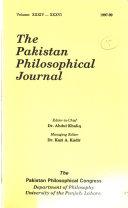 The Pakistan Philosophical Journal
