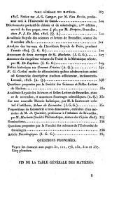 Correspondance mathématique et physique ...: Volume1