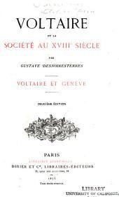 Voltaire et la société au XVIIIe siècle: Voltaire et Genève