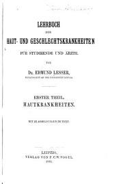Lehrbuch der Haut- und Geschlechtskrankheiten: für Studirende und Ärzte, Bände 1-2