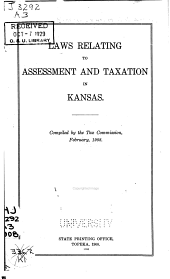 Laws Relating to Assessment and Taxation in Kansas