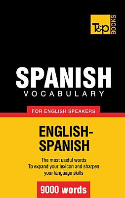 Spanish vocabulary for English speakers   9000 words