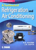 Textbook of Refrigeration and Air Conditioning PDF