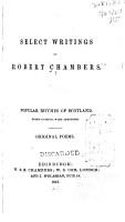 Select Writings of Robert Chambers PDF
