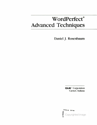 Wordperfect Advanced Techniques Book PDF