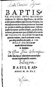 De dictis factisque memorabilibus collectanea Camillo Gilino latina facta