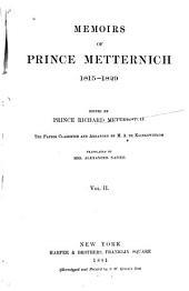 Memoirs of Prince Metternich: 1773[-1835]