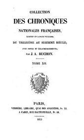 Les chroniques de Jean Froissart: Volume12