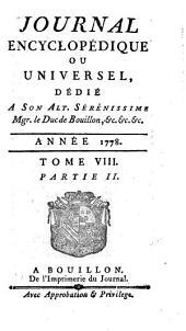Journal encyclopedique ou Universel: Volume8,Partie2