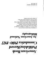 American Book Publishing Record Cumulative, 1950-1977