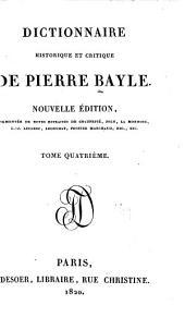 Dictionnaire historique et critique de Pierre Bayle: Volume4