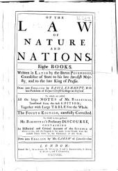 Of the law of nature and nations: Eight books
