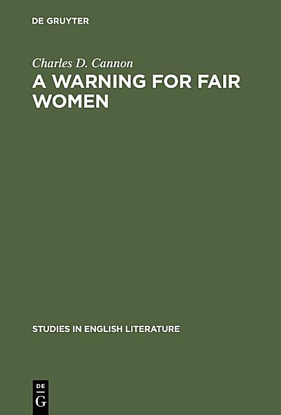 Download A Warning for Fair Women Book