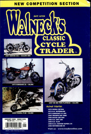 WALNECK S CLASSIC CYCLE TRADER  JANUARY 2000 PDF