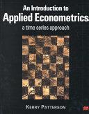 An Introduction To Applied Econometrics PDF